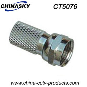 CCTV Twist-on Male Coaxial Cable F Plug (CT5076) pictures & photos