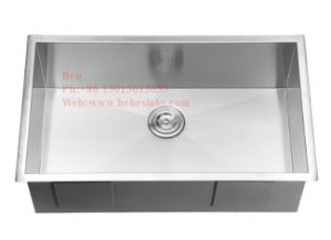 Stainless Steel Square Handmade Under Mount Single Bowl Kitchen Sink pictures & photos