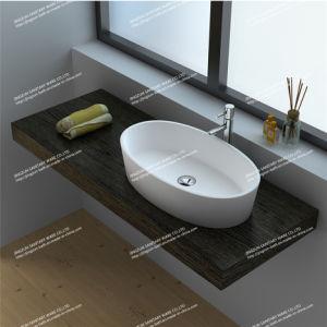 Modern Design Solid Surface Bathroom Mineral Casting Wash Basin/Sink (JZ9036)