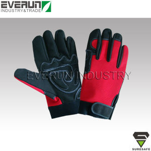 Shockproof Gloves Synthetic Leather Mechanic Gloves pictures & photos
