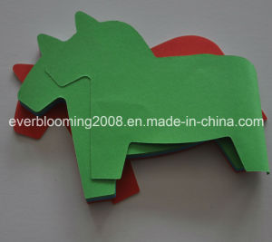 Logo Printed Customized Flower Shape Paper Cube Sticky Note Pad pictures & photos