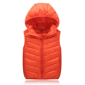 Chinese Factory Stock Lot Good Quality Cheap Mens Polyeste Down Vest Down Jacket 602 pictures & photos