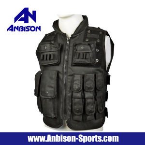 Anbison-Sports Airsoft Police Milspec Combat Tactical Assault Vest pictures & photos