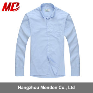 Wholesale Clergy Shirt with Short Sleeves in Sky Blue pictures & photos