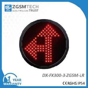 300mm LED Red Arrow Turn Left and Go Straight Signal Modules