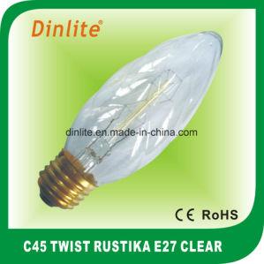 C45 - E27 (8anchors) Twist Rustika Golden Bulb pictures & photos