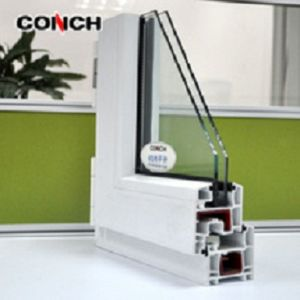 Conch PVC/UPVC Profile 60 Series Inward Casement Window pictures & photos