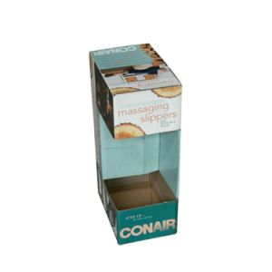 Hot Sale Corrugated Packing Box for Slippers with PVC Window pictures & photos
