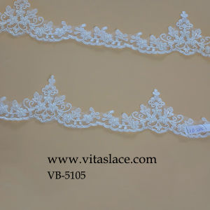 Ivory Rayon & Polyester Lace Trimming From Factory Vb-5105