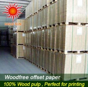 700*1000mm White Wood Free Offset Paper pictures & photos