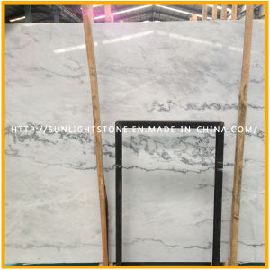 Natural China Cheap Polished White Marble Stone Flooring Tiles pictures & photos