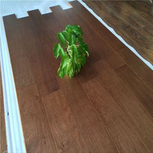 UV Lacquered Finishing American Walnut Engineered Wood Flooring pictures & photos