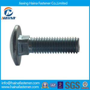 Zinc Plated/Carbon Steel Carriage Bolt for Timber, Ronud Head Square Neck Coach Bolt pictures & photos