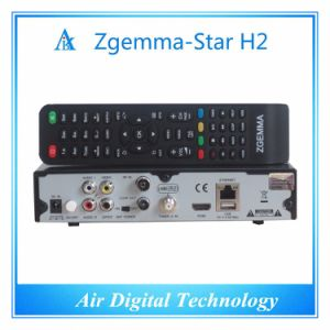 Original Zgemma Star H2 Satellite Receiver Linux OS E2 Dual Core DVB-S2+T2/C Twin Tuners pictures & photos