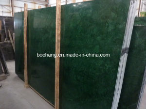 Grain Indian Green Marble Slab for Wall Cladding pictures & photos