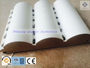 Groove Wooden Acoustic Diffuser Sound Absorbing Panel in China (BCWP25) pictures & photos