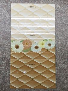 Building Material Simple Yellow Pattern Digital Printing Ceramic Wall Tile pictures & photos