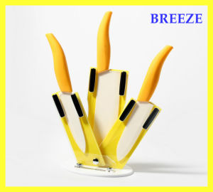 Yellow 4 PCS Bread Ceramic Knife Sets for Gift pictures & photos