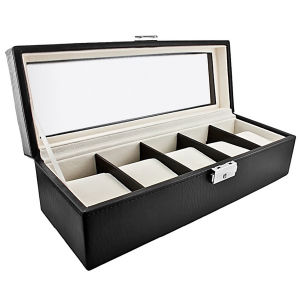 Classic Leather Five Storage Watch Case (HX-A0758) pictures & photos