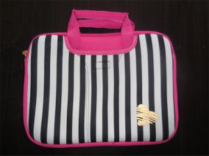 Hot Selling Neoprene Assorted Strip Printing 13.3′′ Laptop Bag pictures & photos