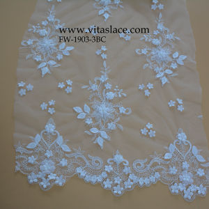 White Bridal Floral Lace Fabric Wholesale Fw1903-3bc pictures & photos
