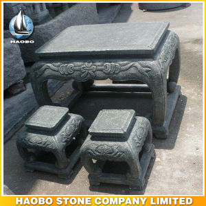 Outdoor Gray Granite Table and Benches for Garden Decoration pictures & photos