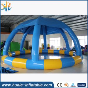 New Design Inflatable Swimming Pool with Cover for Family Used pictures & photos