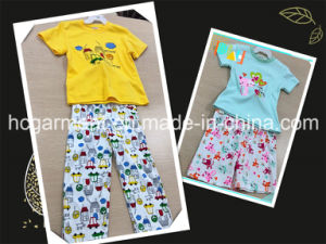 Kids Sleep Wear Short Sleeve and Shorts Suit for Girl/Boy pictures & photos