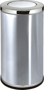 Shopping Mall Stainless Steel Dust Bin (YH-94X) pictures & photos