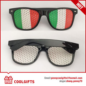 Wayfarer Style Sunglasses with National Flag Sticker for Promotional Gift pictures & photos