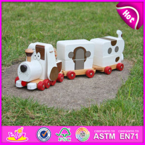 2015 High Quality Creative Dragging Dog Wooden Toys, Cheap Kids Toys Pull Line Toy, Lovely Dog Design Pull and Push Toy W05b090 pictures & photos