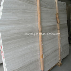 Polished White Wood Veins Marble Slab for Flooring Tile & Wall pictures & photos