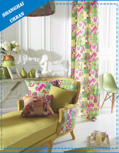 Linen Ink Print Window Curtain pictures & photos