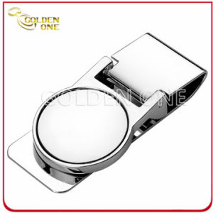 Promotion Gift Plain Circle Stainless Steel Money Clip pictures & photos