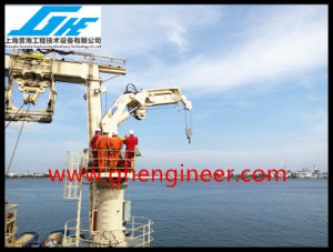 Ship Deck Hydraulic Telescopic Offshore Crane 5t@11m pictures & photos