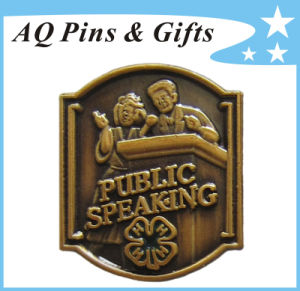 Wholesaler Series 4h Antique Lapel Pin Badge with Clover (badge-138) pictures & photos