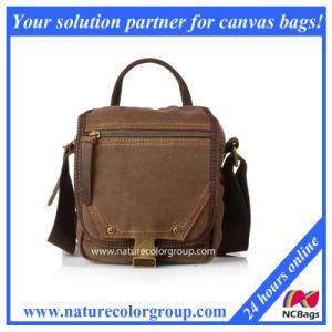 Men`S Single Shoulder Casual Messenger Canvas Bag, Flap Bag (MSB-014) pictures & photos