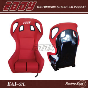 Eddy Strength Latest Red Adult Car Booster Seat Black Fiberglass Bucket Seat