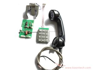 PC/ABS Telephone Handset Smart Phone Receiver with Metallic Hose pictures & photos
