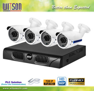 4CH HD Power Line Communication PLC CCTV Wireless Camera System IP NVR Kit Witson W3-Kd2004PLC pictures & photos