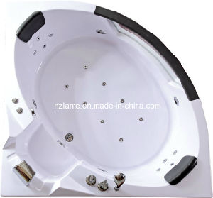 Nice Design Massage Corner Bathtub with Glass (TLP-632 pneumatic control) pictures & photos
