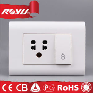 Indian Standard Module Type 6A 5 Hole Switched Socket pictures & photos