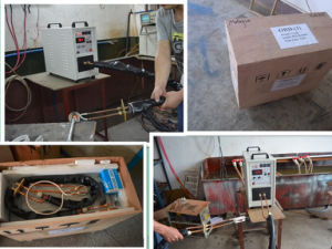 High Frequency Induction Heater with Flexible Connection Hf-25kw pictures & photos