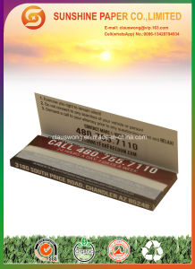 13GSM 100% Hemp Cigarette Paper with 1 1/4 Size pictures & photos