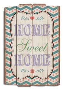 New Design of Wooden Wall Hanging Sign, Wood Wall Sign- ′′home Sweet Home′′