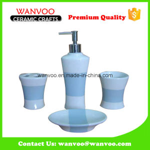 European Fashion Style Hot Sale Ceramic Bathroom Accessories on Underglazed Color Finish pictures & photos