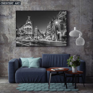 Black and White Downtown Canvas Prints pictures & photos
