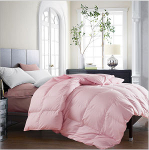 Bed Hotel Comforter White 90% Duck Down Pink Quilt pictures & photos