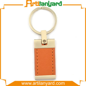 Laser Logo PU Leather Keychain pictures & photos