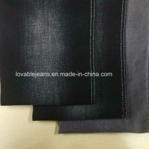 11oz Stretchy Polyester Denim Fabric (WW110) pictures & photos
